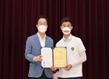 [경북교육청]경북일고, 올림픽 2관왕 김제덕 선수 환영 행사 개최